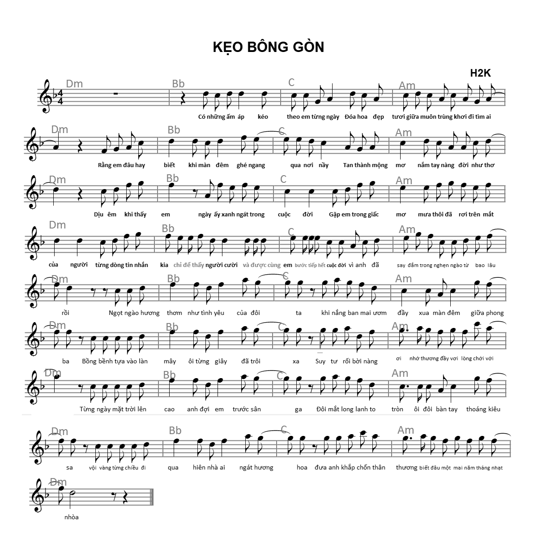 Sheet nhac Keo Bong Gon_H2K_Dm.png
